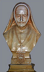 Mother Mary Ann - Bust overlooking St. Ann's entrance
