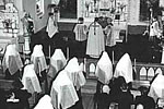 Novices taking vows in the Chapel, c. 1955