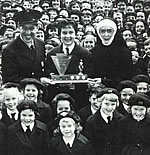 "Presentation of a Trophy for being ""Best School in Victoria"" during Fire Prevention Week, 1962"