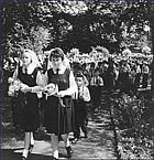 Garden procession, c. 1950