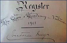 Guest Register, 1901