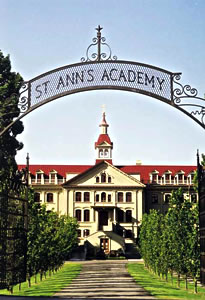 entrance gate to St. Ann's Academy