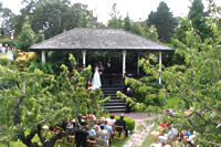 Wedding setup for the Novitiate Garden
